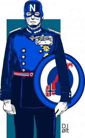 """CAPTAIN NORWAY"" T-SKJORTE"